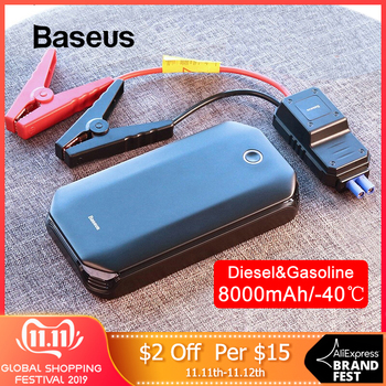 Baseus Car Jump Starter Starting Device Battery Power Bank 800A Jumpstarter Auto Buster Emergency Booster Car Jump Start