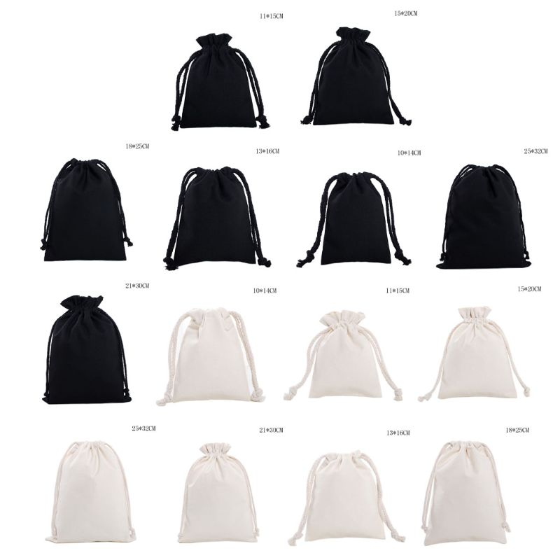 Adult Kids Portable Small Linen Drawstring Bag Solid Travel Storage Organizer For Wedding Party Favors Candies Container Bag