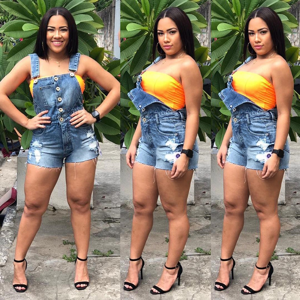 Women's Denim Shorts Plus Size Classic Vintage High Waist Blue Wide Leg Female Caual Summer Ladies Shorts Jeans For Women D30