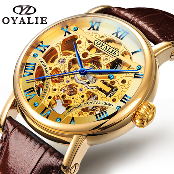 OYALIE relogio masculino watches men Fashion Sport Stainless Steel Case Leather Band watch Business Wristwatch reloj hombre 2019 megir masculino watches men fashion sport stainless steel case leather band watch quartz business wristwatch reloj hombre