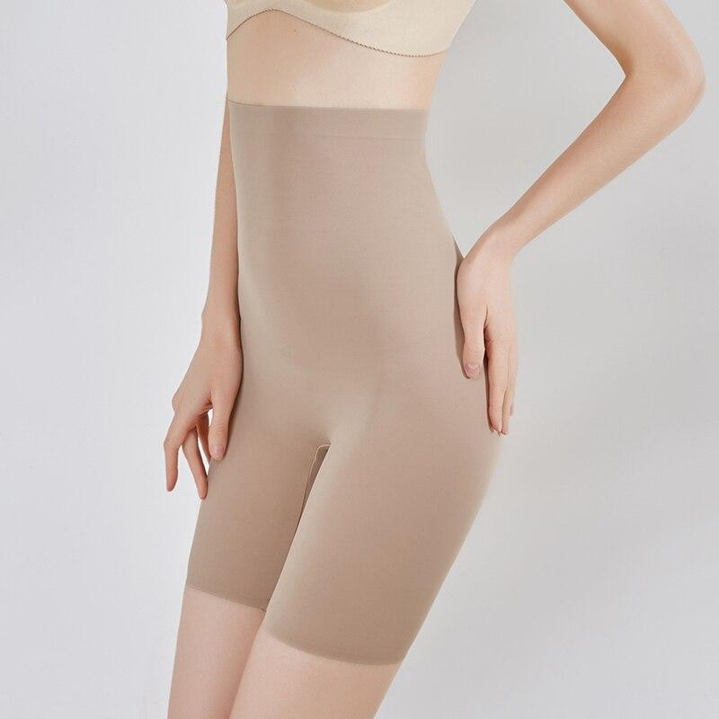 Утягивающие трусики с завышенной талией, Суперэластичные Бесшовные корректирующие трусики, женские утягивающие штаны, нижнее белье, трена...