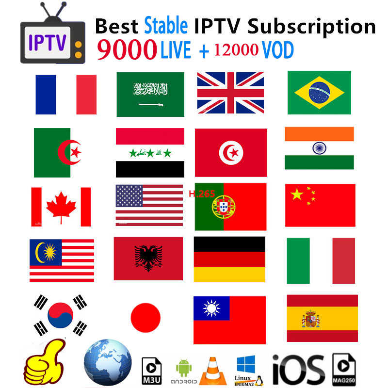 Iptv Subscription Spain Dutch German Turkey Portugal France Arabic Subscription Iptv Adult M3u Vod For X96 H96 Android Tv box