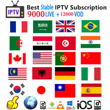 Iptv Subscription Spain Dutch German Turkey Portugal France Arabic Subscription Iptv Adult M3u Vod For X96 H96 Android Tv box(China)