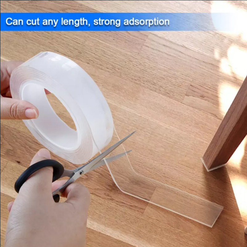1/2/3/6m Double-Sided Adhesive Nano Magic Tape Traceless Reusable Removable Sticker Washable Adhesive Home Improvement Bathroom 4