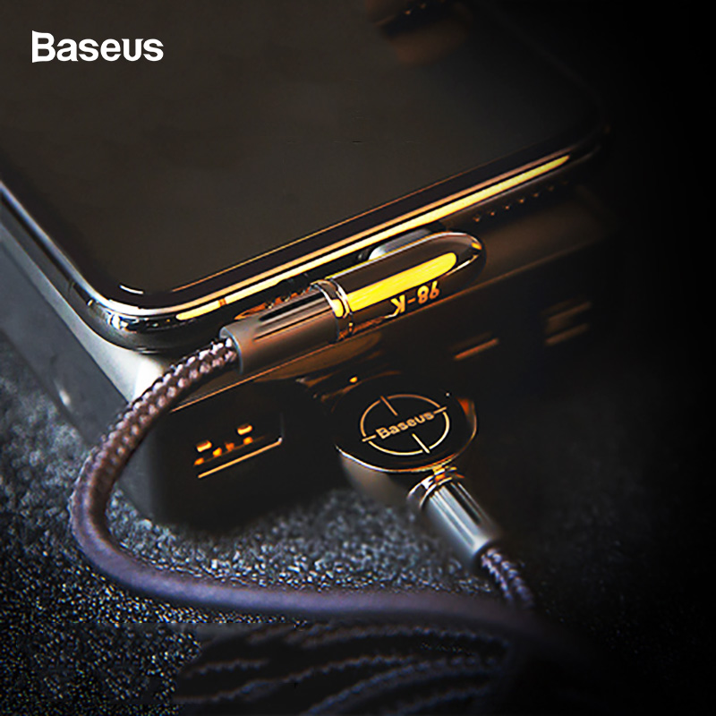 Baseus USB Cable For iPhone XS Max XR X 8 7 6 6S SE iPad 2.4A Fast Charging Charger Wire Cord 90 Degree Data Mobile Phone Cable-in Mobile Phone Cables from Cellphones & Telecommunications on AliExpress