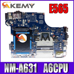 Akemy For Lenovo Thinkpad E565 Laotop Mainboard BE565 NM-A631 Motherboard A6-CPU DDR3