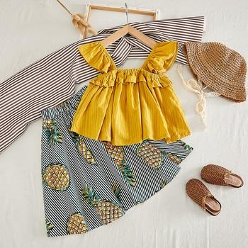 цена Menoea Girls Clothing 2020 New Style Children Clothes Suits Cute  Flower Clothes Long Pants Suits for 3-7Y Kids Clothing Sets онлайн в 2017 году