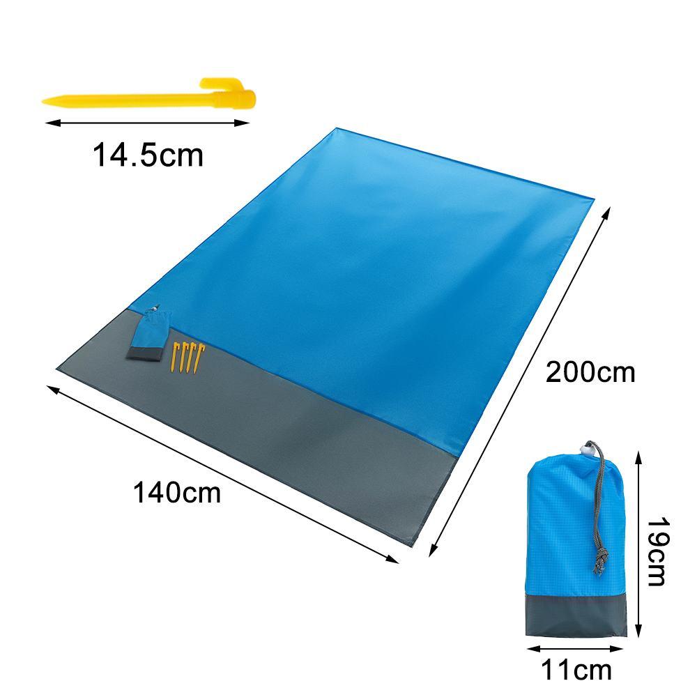 Folding Portable Picnic Beach Mat Pocket Blanket Waterproof Beach Mat Blanket Ground Mats Mattress Outdoor Camping Tent Mat