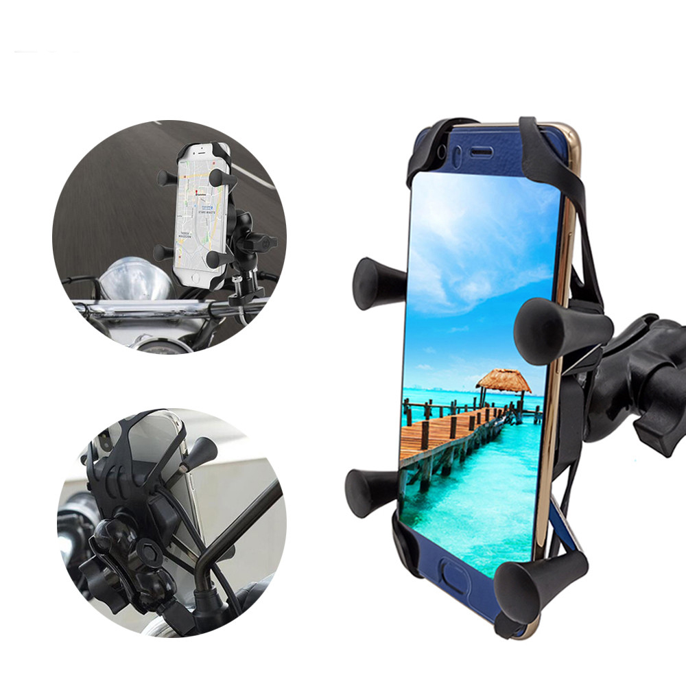 For <font><b>BMW</b></font> <font><b>f</b></font> 650 <font><b>700</b></font> <font><b>gs</b></font> f650 f700gs F800GS Motorcycle Mobile Phone Stand Holder With USB Charger 360 Rotatable image