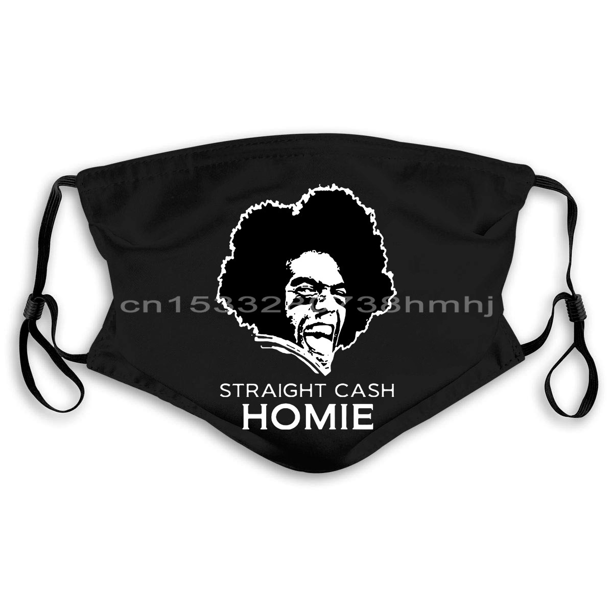 <font><b>Randy</b></font> <font><b>Moss</b></font> STRAIGHT CASH HOMIE Soft Ringspun Cotton Masks new Cool Casual pride Mask men Unisex New Fashion Mask Loose; image