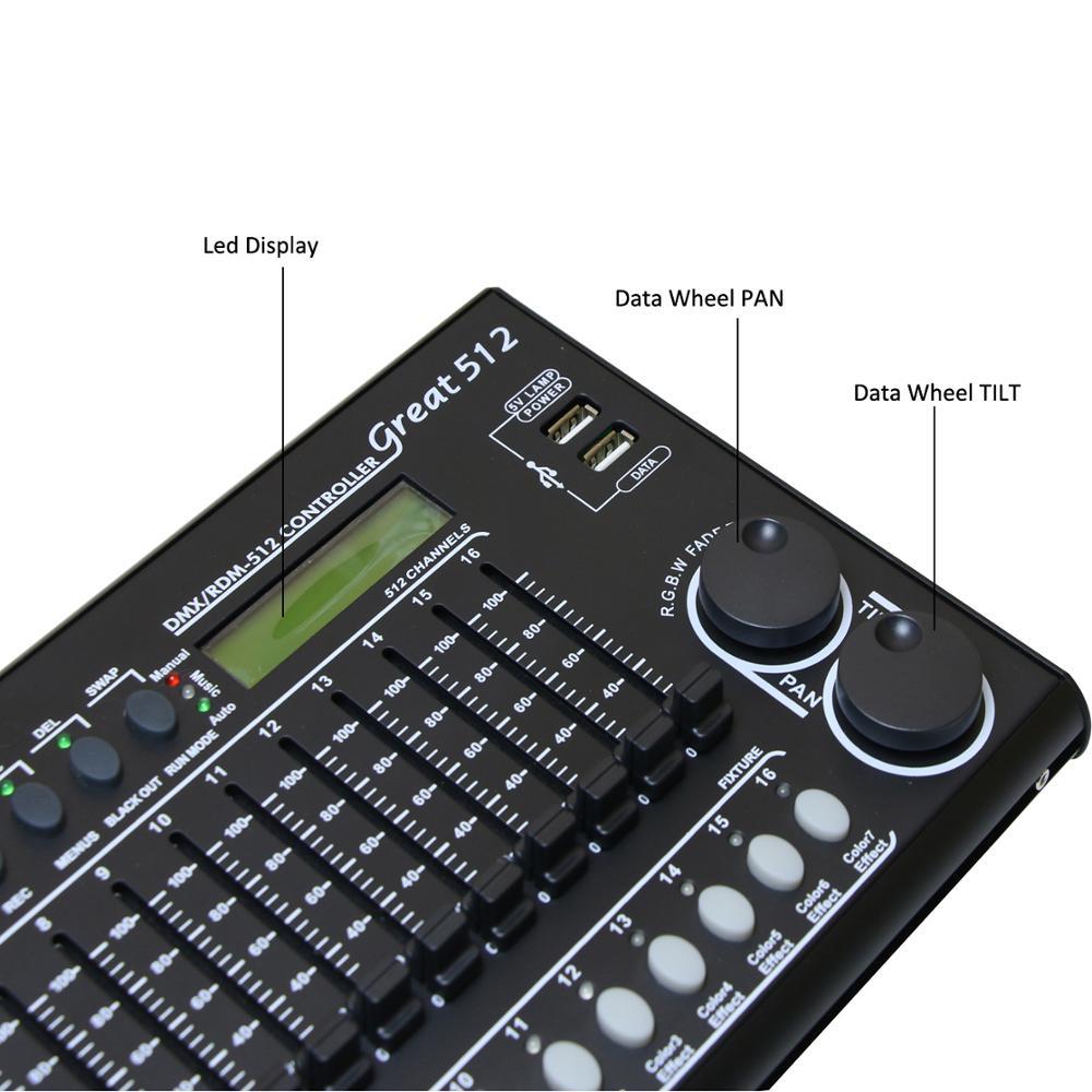 512 kanäle DMX & RDM Controller Bühnen Beleuchtung DMX Konsole Dmx512 Konsole Arbeit Mit USB Power Bank Für Bühne Licht DJ Ausrüstung - 6