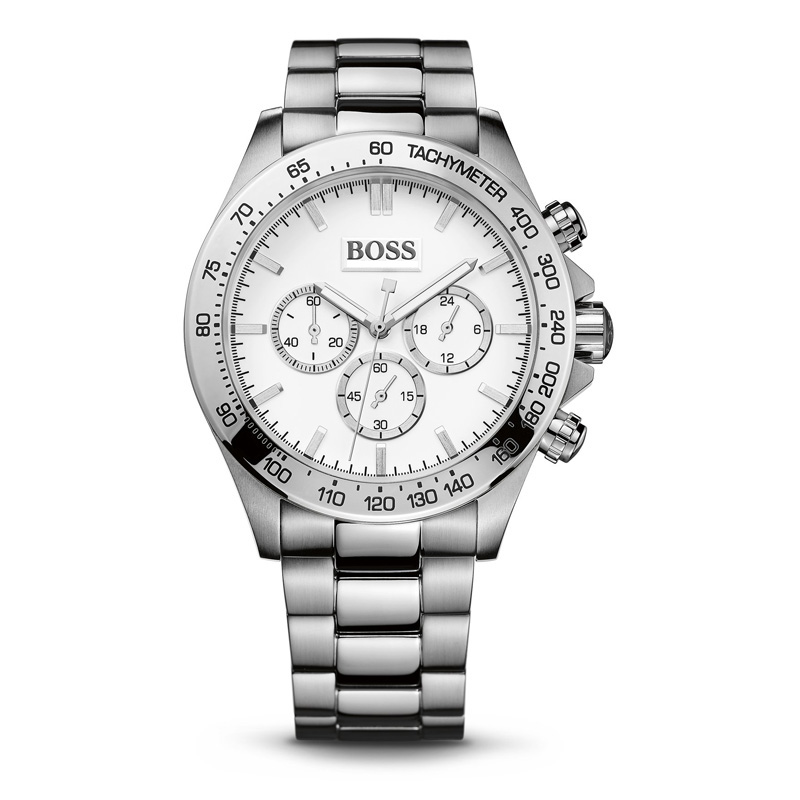 BOSS Luxury Watch Men Business Men 39 s Watch Chronograph Quartz Watches with Stainless Steel Strap 1512962 in Quartz Watches from Watches