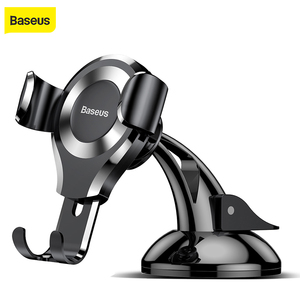 Image 1 - Baseus Gravity Car Phone Holder For iphone 11 Pro X 8 Universal Phone Holder Car Mount For Samsung Android Car Phone Stand