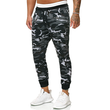Puimentiua New Mens Camouflage Casual Pants 2019 Fashion gym Street Apparel Joggers Fitness Trousers
