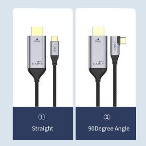 Image 5 - Cable adaptador USB C a HDMI de 90 grados, Cable tipo C a HDMI 4K 60Hz para Huawei Mate30/20 P40/30 Pro, Samsung, Xiaomi C030, 2020