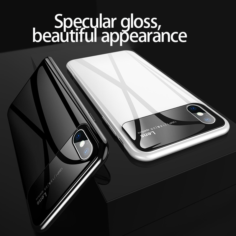 Plastic shell for iphone X XR XS MAX glass case iPhone 7 8 PLUS 11 Pro Plastic shell for iphone X XR XS MAX glass case iPhone 7 8 PLUS 11 Pro MAX ultra-thin anti-fall cover 360° surrounding shell