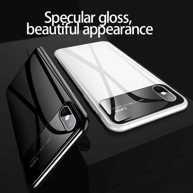 Plastic shell for iphone X XR XS MAX luxury case iPhone 7 8 PLUS 11 Pro MAX ultra-thin anti-fall cover 360° surrounding shell
