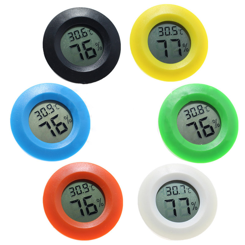 1pc Mini LCD Digital Thermometer Hygrometer Fridge Freezer Tester Temperature Humidity Meter Detector Thermograph Pet Auto Car