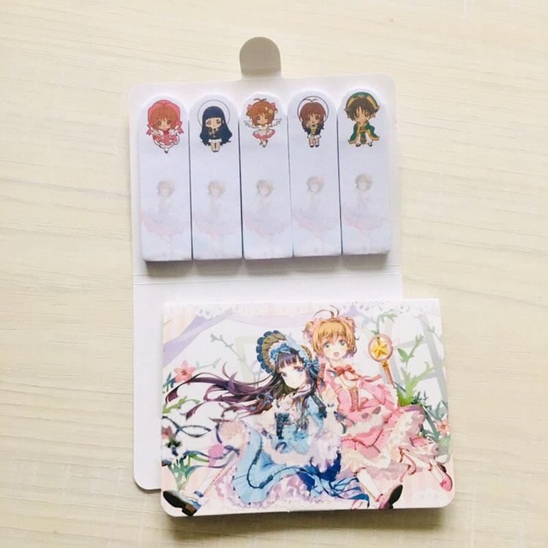 1 Pcs Kawaii Magic Sakura Memo Pad Cartoon Cute Sticky Notes Multi Folding Writing Pads Label Mark Kawaii Stationery Supply