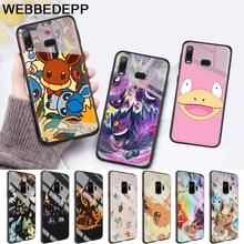 cartoon pokemons eevee pika Glass Case for Samsung S7 Edge S8 S9 S10 Plus A10 A20 A30 A40 A50 A60 A70 Note 8 9 10 стоимость