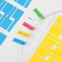 Pegatina autoadhesiva para Cable, etiquetas de identificación impermeables, organizadores de etiquetas de Cable de red, marcadores de colores, herramienta, 150 Uds., gran oferta