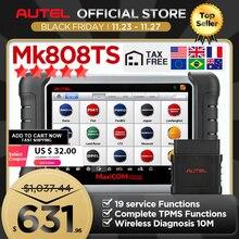 Autel MaxiCOM MK808TS OBD2 Bluetooth Máy Quét Automotivo Xe Dụng Cụ Quét Chẩn Đoán OBD 2 Programing TPMS Cảm Biến PK MK808 MP808TS