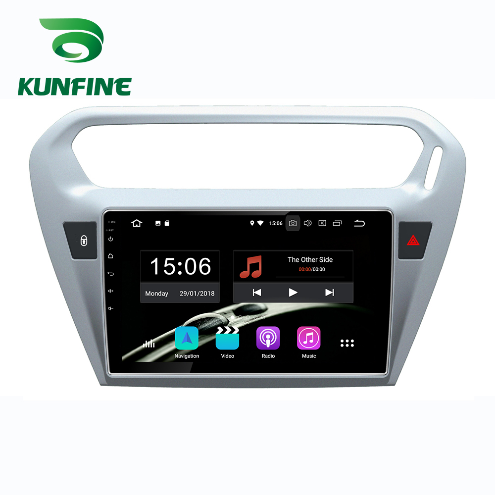 Car Stereo for <font><b>Peugeot</b></font> <font><b>301</b></font> CITROEN Elysee Octa Core 1024*600 Android 10.0 Car DVD GPS Navigation Player Deckless Radio wifi image