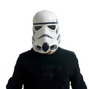 Image 2 - Movie Darth Vader Cosplay Mask Latex Stormtrooper Darth Vader Mandalorian Helmet Kylo Ren The Storm Troops Costume Props