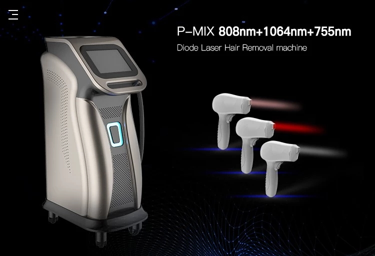 3 Wavelength Professional 600w 808nm Diode Laser Hair Removal Machine 755+808+1064nm Hair Removal Diode Laser For Salon