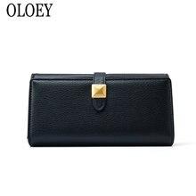 OLOEY, новинка, Большой Вместительный клатч, модная сумка для мобильного телефона с несколькими картами, Женская Корейская версия, длинные женские кожаные кошельки