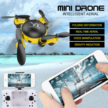 Folding Drone 720P with Camera HD Photography Plane Selfie Quadcopter One key Return Optical Flow WIFI FPV Drones Mini Dron