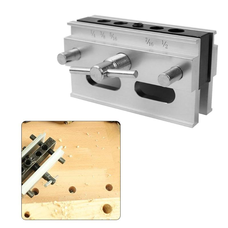 Woodworking Self-centering Doweling Jig Kit Drill Guide Set Drill Bushings
