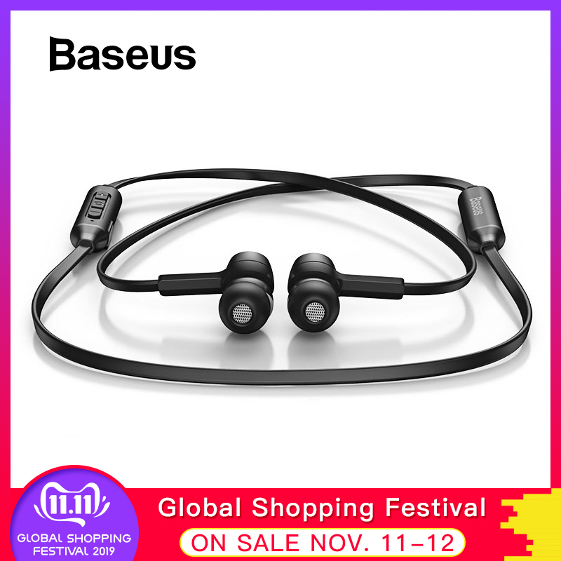 Baseus S06 Bluetooth Earphone Wireless Magnetic Neckband Bluetooth Headset Sport Earphone Stereo Earpieces For Samsung Xiaomi-in Phone Earphones & Headphones from Consumer Electronics on AliExpress - 11.11_Double 11_Singles' Day