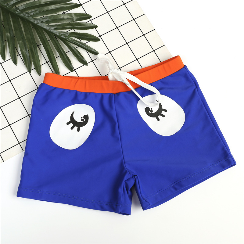 CHILDREN'S Swimming Trunks BOY'S Smiley Baby AussieBum Fashion KID'S Swimwear Cartoon Swimming Trunks Wen Quan Bao Bao Bathing S