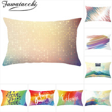 Fuwatacchi Colorful Geometric Cushion Cover Rectangle Throw Pillow Covers Home Decorfunda Decoration Pillowcases 30*50cm