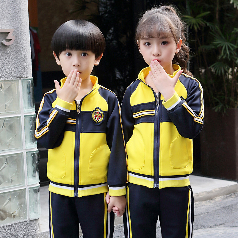 New Style 2018 Autumn Sports School Uniform Primary School STUDENT'S Sports Clothing School Uniform Children Business Attire