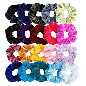 20 Pcs Velvet Elastic Hair Bands For Women Or Girls Hair Accessories Crunchy Hair Tie Silk Scrunchie 2020 Dropshipping#50