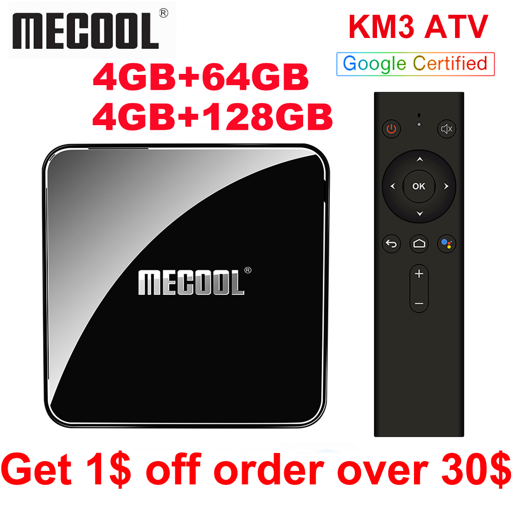 2019 Mecool KM9 PRO KM3 ATV 4 gb 64 gb Android 9.0 TV Box Google Zertifiziert Androidtv Amlogic S905X2 Doppel Wifi 4 K Smart TV Box