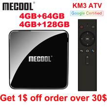 MECOOL KM3 ATV Androidtv Google Certified TV Box Android 9.0