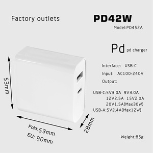 Image 5 - 42W 45W 57W 60W 65W Type C Wall Charger 30w+5V 2.4A Travel Charger Power Delivery PD for MacBook Pro Samsung Galaxy Note 9/ S9