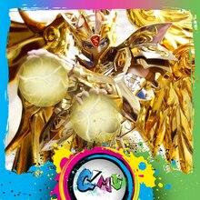 CMT grands jouets Ex Gemini Saga soul en or de Saint Seiya, armure en métal, tissu mythe, figurine anime