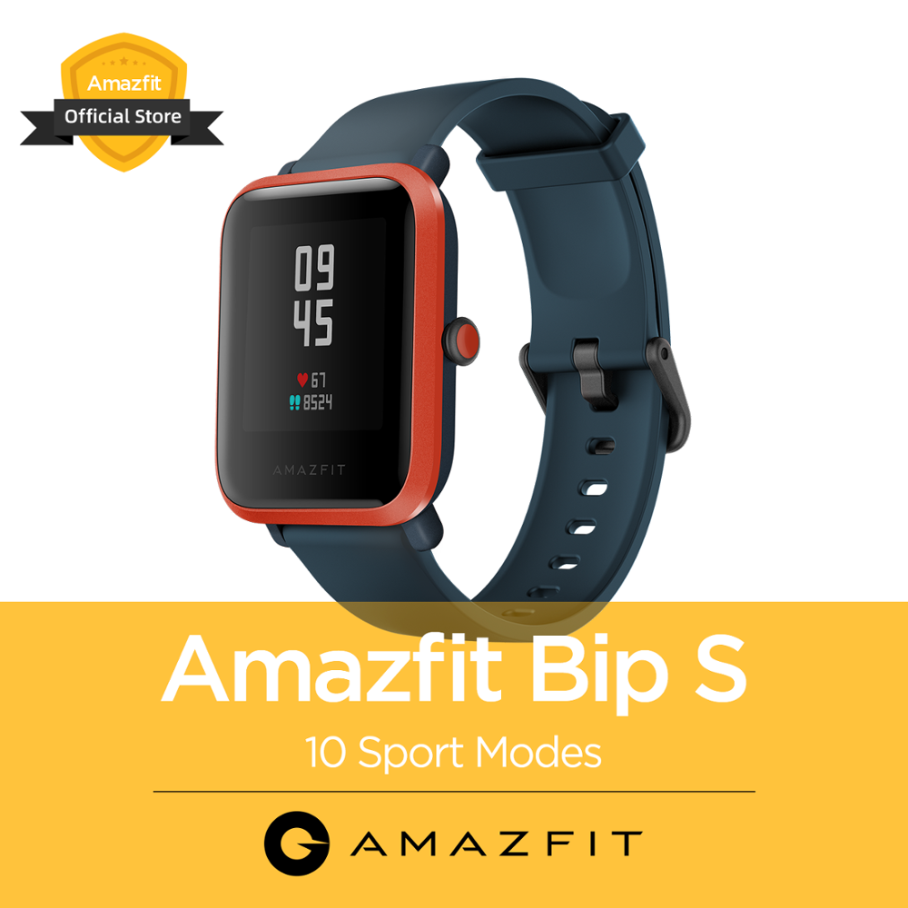 New Global Version Amazfit Bip S 5ATM Waterproof Smartwatch  Heart Tracking Bluetooth Smart Watch CES For Android IOS Phone