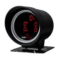 2'' 52mm Car Air Suspension Pressure Gauge Bar & PSI 7 Color LED Display Air Press Boost Air Ride Meter 5 pcs 1/8 NPT Sensors