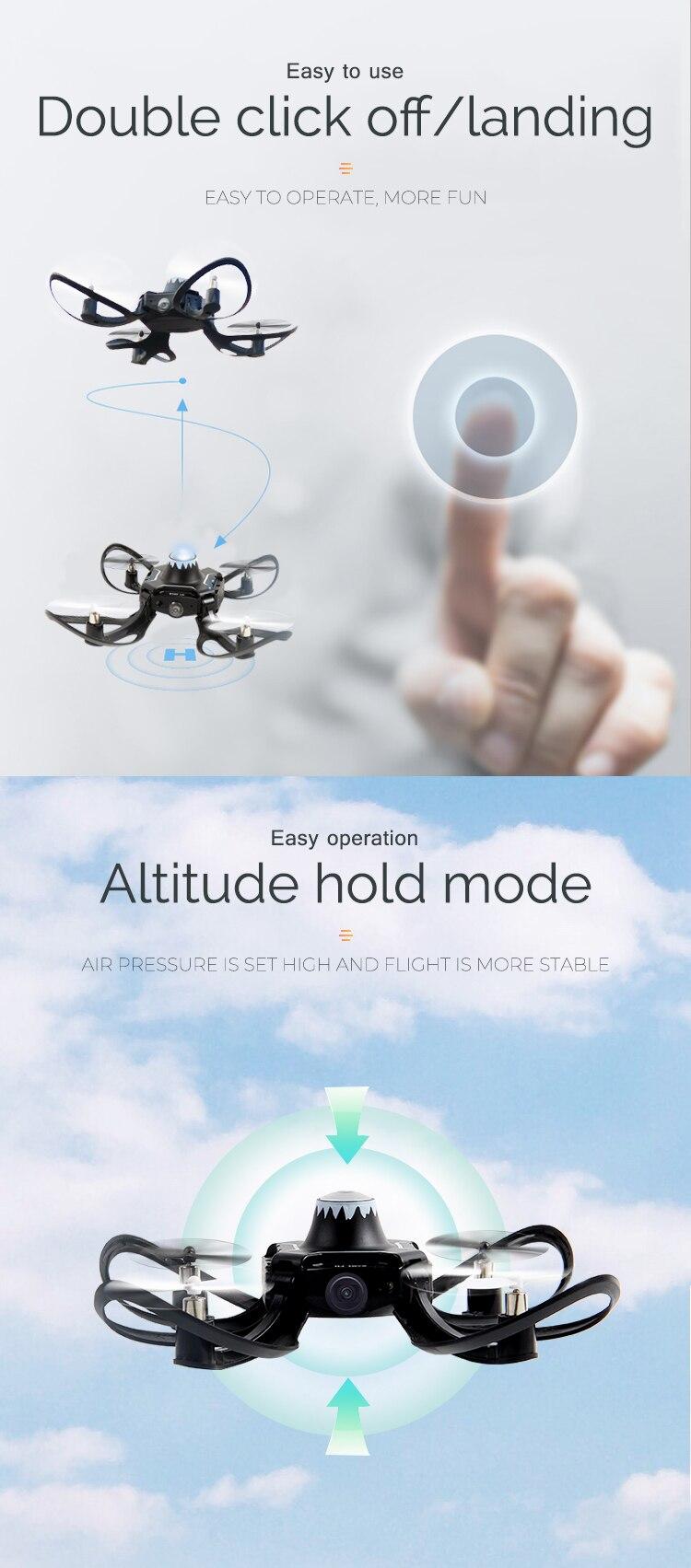 Mini RC Hand Sensor Quadcopter Drone with 480P Camera 9