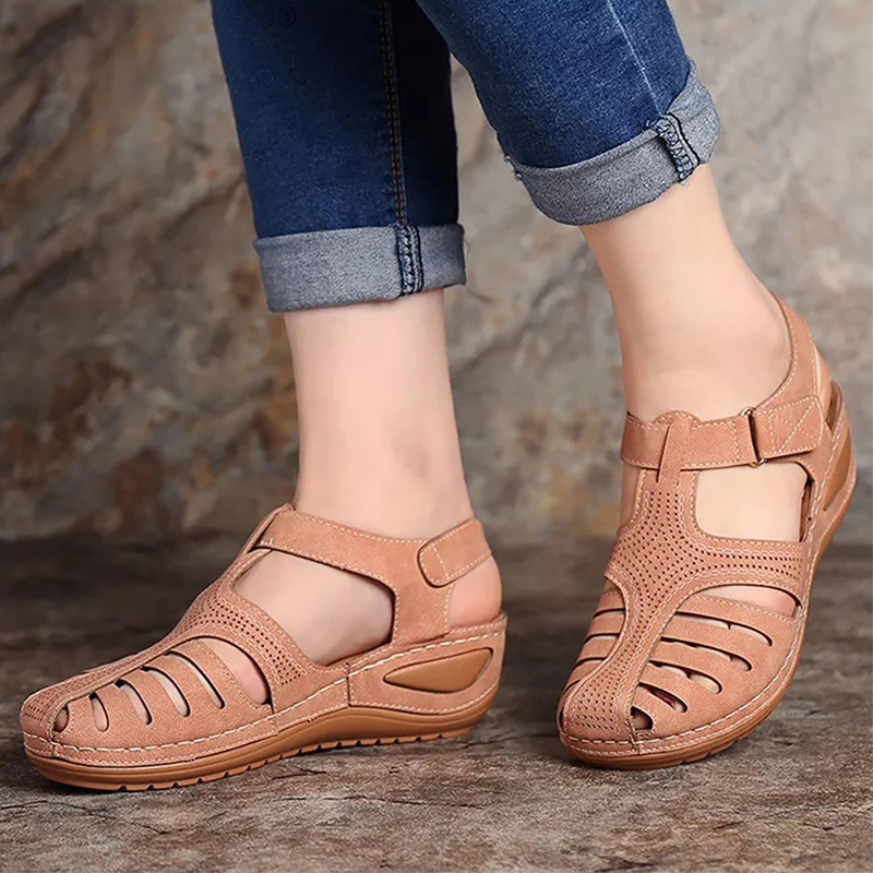 Cheap Women's summer shoes Classic Woman sandals Hook loop Gladiator sandals women Comfort Pink Female platform sandal