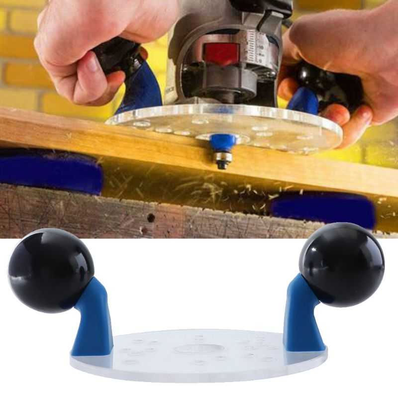 Wood Router Base With Handles Router Fixed-base Compact Guide Variable Speed