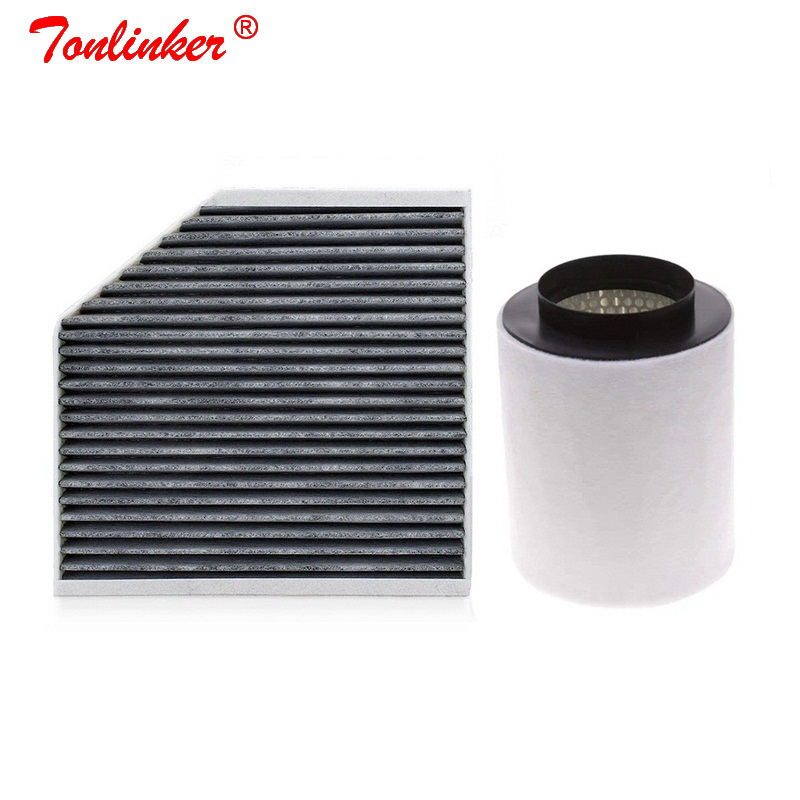Cabin Filter Air Filter 2 Pcs For <font><b>Audi</b></font> <font><b>A8</b></font> <font><b>4H</b></font> 2009-2019 2.0T 3.0T 4.0T 4.2T Model Built External Filter Set 4H0819439 4H0129620 image