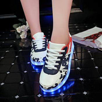 Size 30-46 Glowing Sneakers for kids and adults USB Charging Light Up Shoes for boys girls men women Led Causal Shoes free shipping led shoes men valentine fashion usb rechargeable light up for adults 7 colors luminous men led shoes