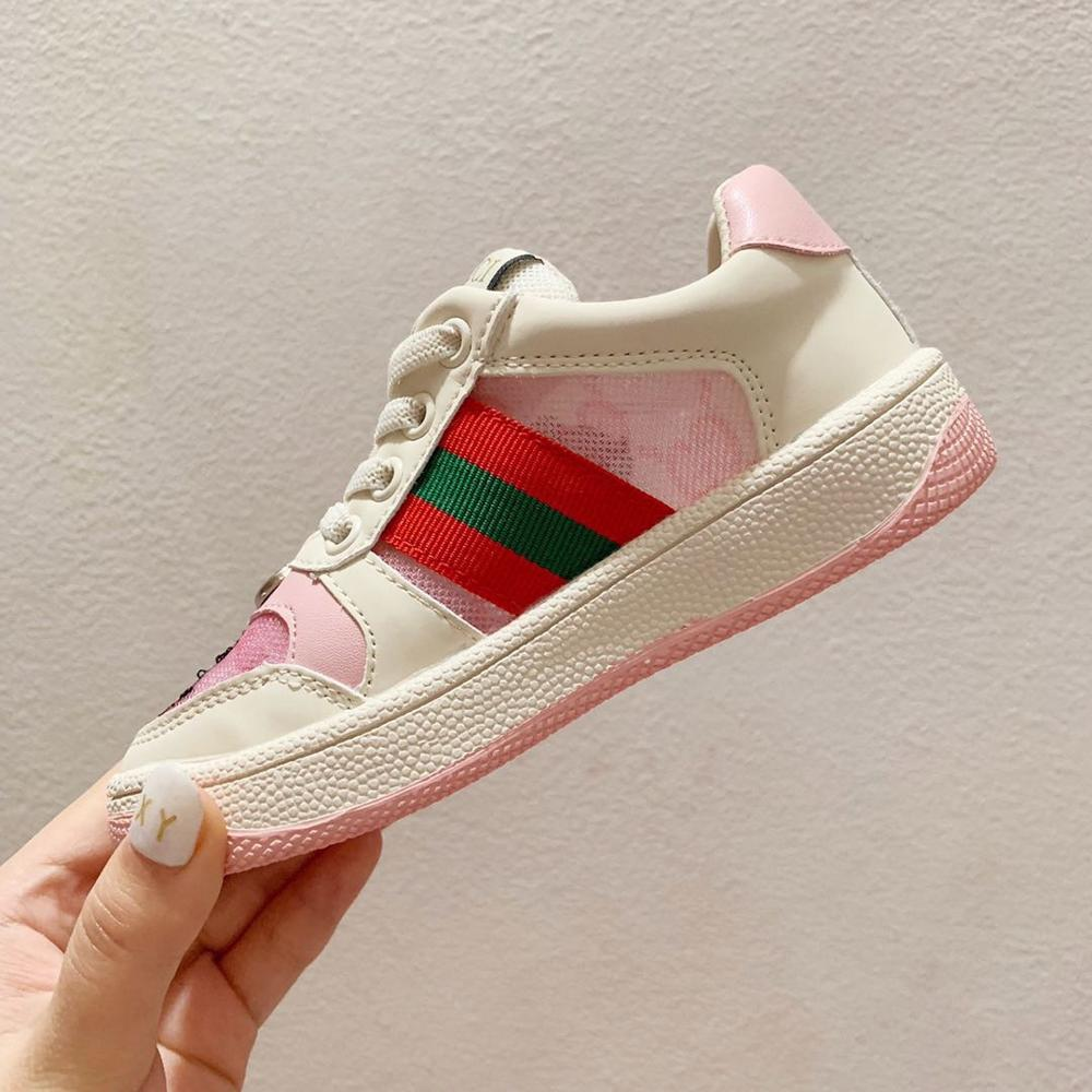 Children's 3 Colour Cotton Sneakers Kids Stylish Casual Shoes Fashion Mesh Sneakers