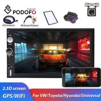 Podofo 2din Autoradio Android 8,1 GPS WiFi USB Auto Multimedia Player Für Universal Für Volkswagen Nissan toyota Golf Auto stereo